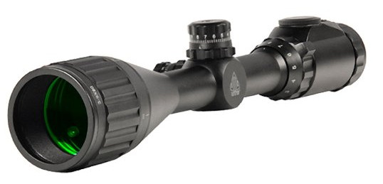 UTG 3-9X50 1 Hunter Scope, AO, 36-color Mil-dot, w/ Rings by UTG