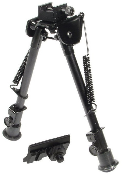 UTG Tactical OP Bipod, Rubber Feet, Center Height 8.3-12.7.