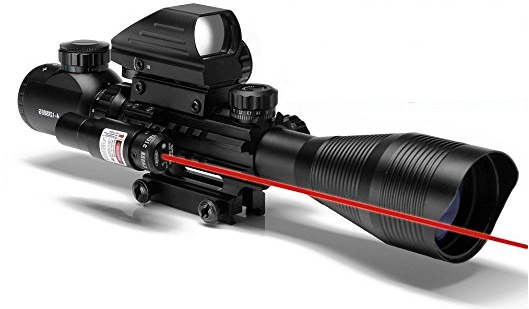 AR15 Tactical Rifle Scope 4-12x50EG Dual Illuminated Optics Sight